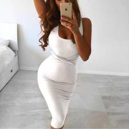 Sexy Body con Sleeveless Party Dres..