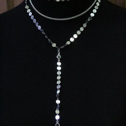 Three Layered Charmed Necklace