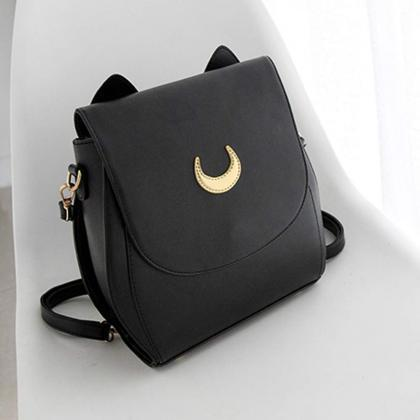 Adorable Moon Bag in Black and Whit..