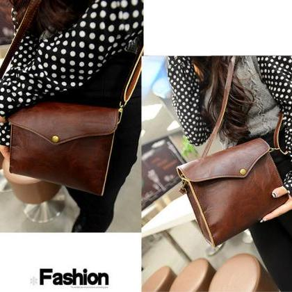 Classy PU Leather Shoulder Bag in B..