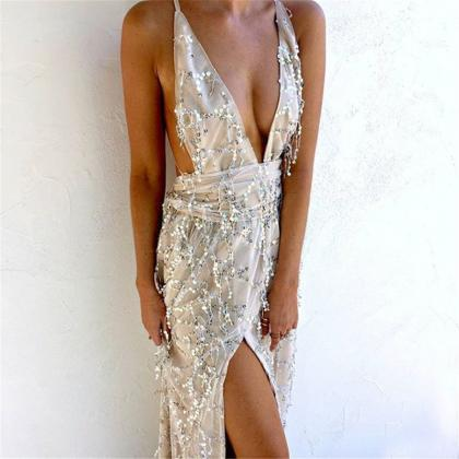 Gorgeous Sequined Long Dresses in B..
