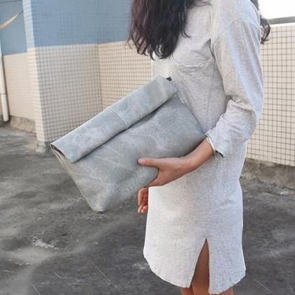 Stylish Ladies Clutch Bag in Grey B..
