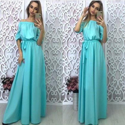 Gorgeous Off Shoulder Long Dress