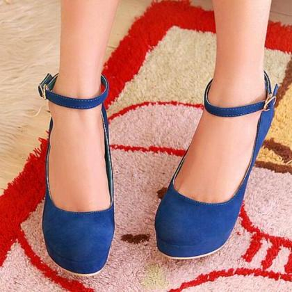 Ankle Strap High Heels Fashion Shoe..