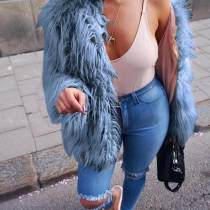 Elegant Faux Fur Winter Coats
