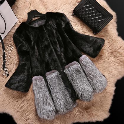 Beautiful Warm Winter Faux Fur Coat..