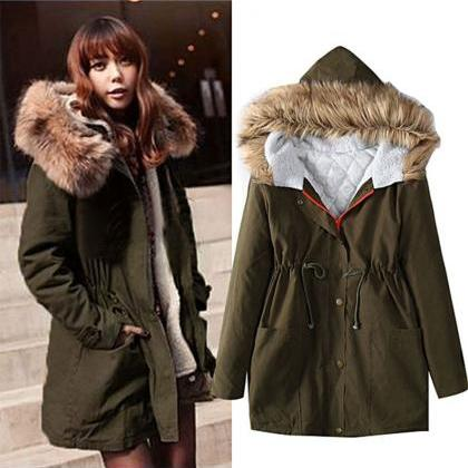 Autumn and Winter Warm Hooded Jacke..
