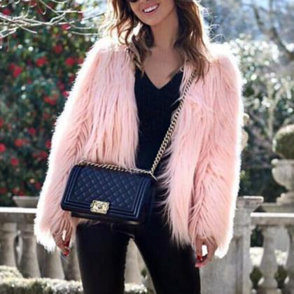 Elegant faux Fur Ladies Coats