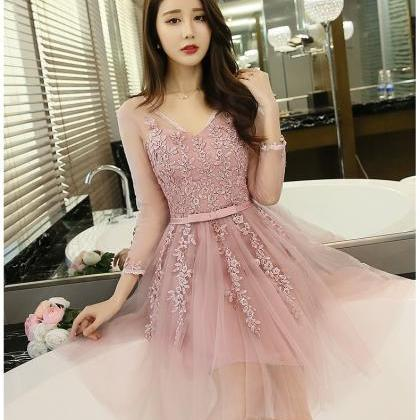 Beautiful Pink Ball Gown Lace Party..