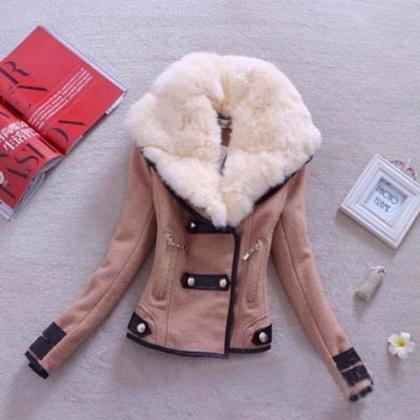Fashion Winter Women's Warm Faux Fu..