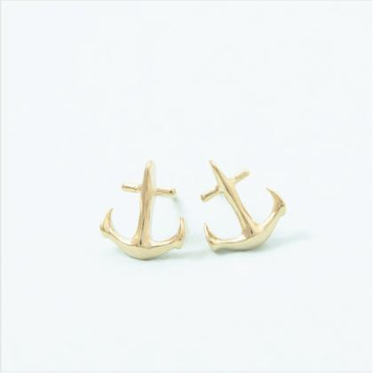 Cute Anchor Stud Earrings