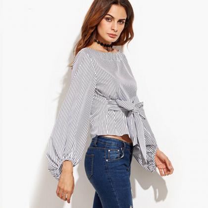 Women's Off Shoulder Long Sleeve St..