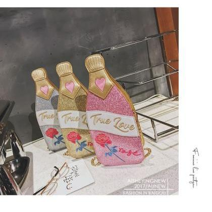 Adorable Bottle Shape Clutch Bag Sh..