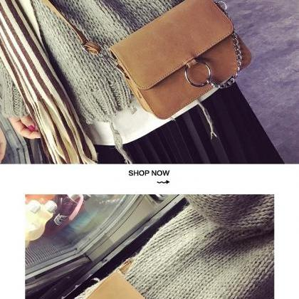 Chic Retro Messenger Bag Shoulder B..