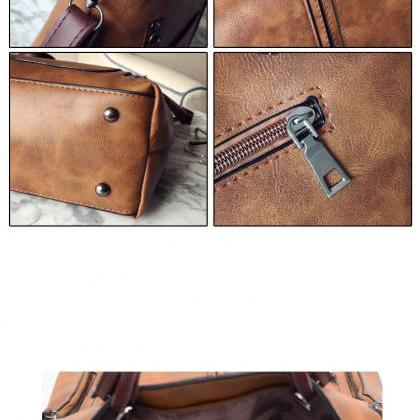 Classy PU Leather Large Capacity Ha..