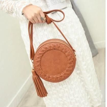 Round Tassel Women's Handbag Should..
