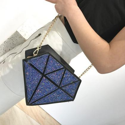 Fashion Diamond Shape Handbag Shoul..