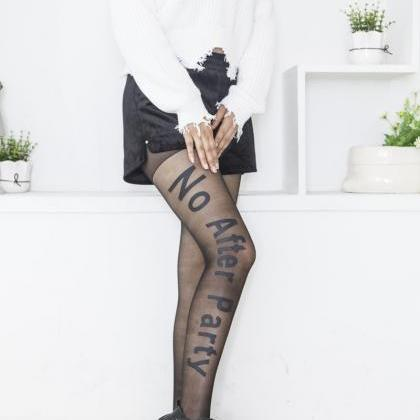 Black No After Party Tights Legging..