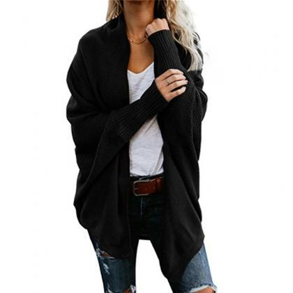 Chic Oversized Women Cardigan Coat