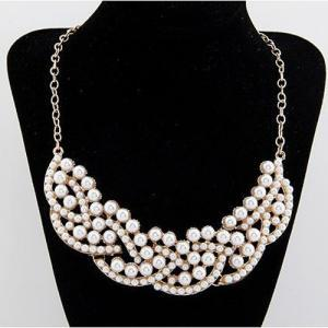 All Match Pearl Embellished Collar ..