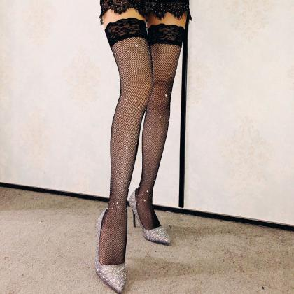 Sexy Black High Quality Fishnet Lac..