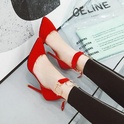 Pointed Toe All Match High Heels Sh..