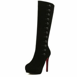 Sexy Black High Heels Fashion Boots