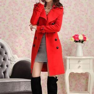 Beautiful Red Fashion Coat