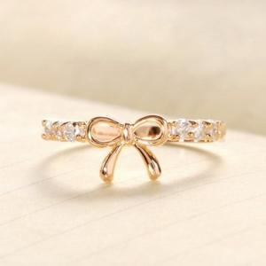 Cute Diamond Embellished Bow knot R..