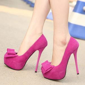 Sexy Bow Design Rose Platform Fashi..