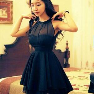 Stunning Black Sheer Sleeveless Min..