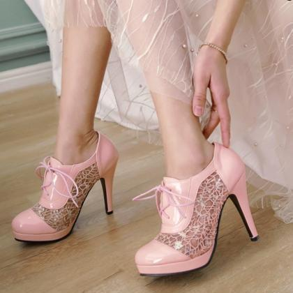Elegant High Heels Ankle Boots with..