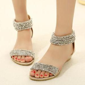 Diamond Design Boho Flat Fashion Sa..