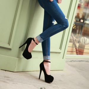 Fashion Round Toe Stiletto Heels An..