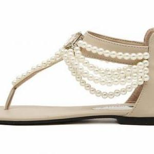 Gorgeous Pearl Beaded Sandals