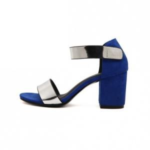 Open-toe Suede Chunky Heels with Me..