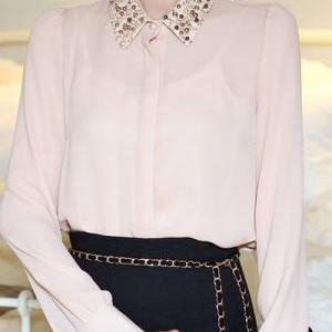 Gorgeous Pearl Beaded Long Sleeve B..