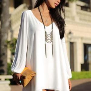Beautiful White Bohemian Design Hig..