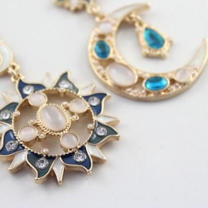 Beautiful Boho Sun and Moon Rhinest..
