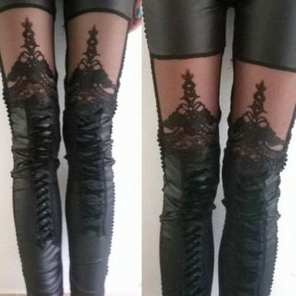 Cute Black Legging with Beautiful L..