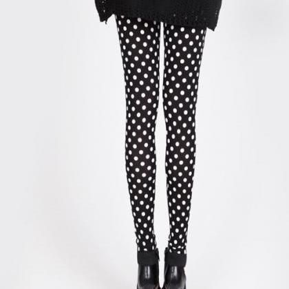 Cute Black Polka dots Leggings