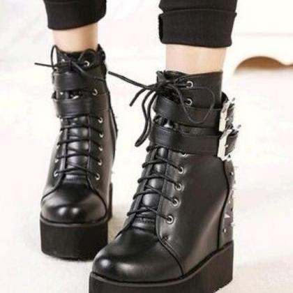 Studded Black Martin Boots