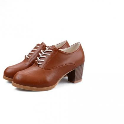 Cute Lace up Oxford Shoes