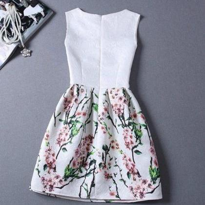 Stylish Floral A Line Printed Dress
