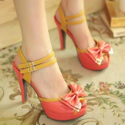 Ankle Strap Peep Toe Sandals with B..