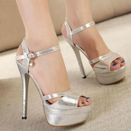 Sexy Peep toe Ankle Strap Sandals i..