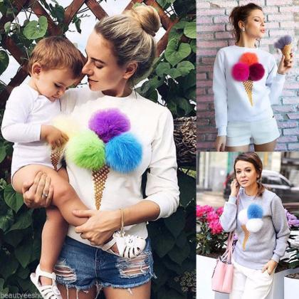 Gorgeous Ice Cream Pullover Sweater..