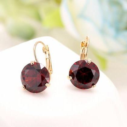 6 Color Women's Crystal Earrings