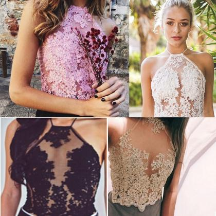 Lace Tops in Pink,Gold,White and Bl..