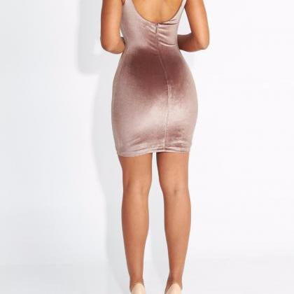 Sleeveless Body con Party Dress